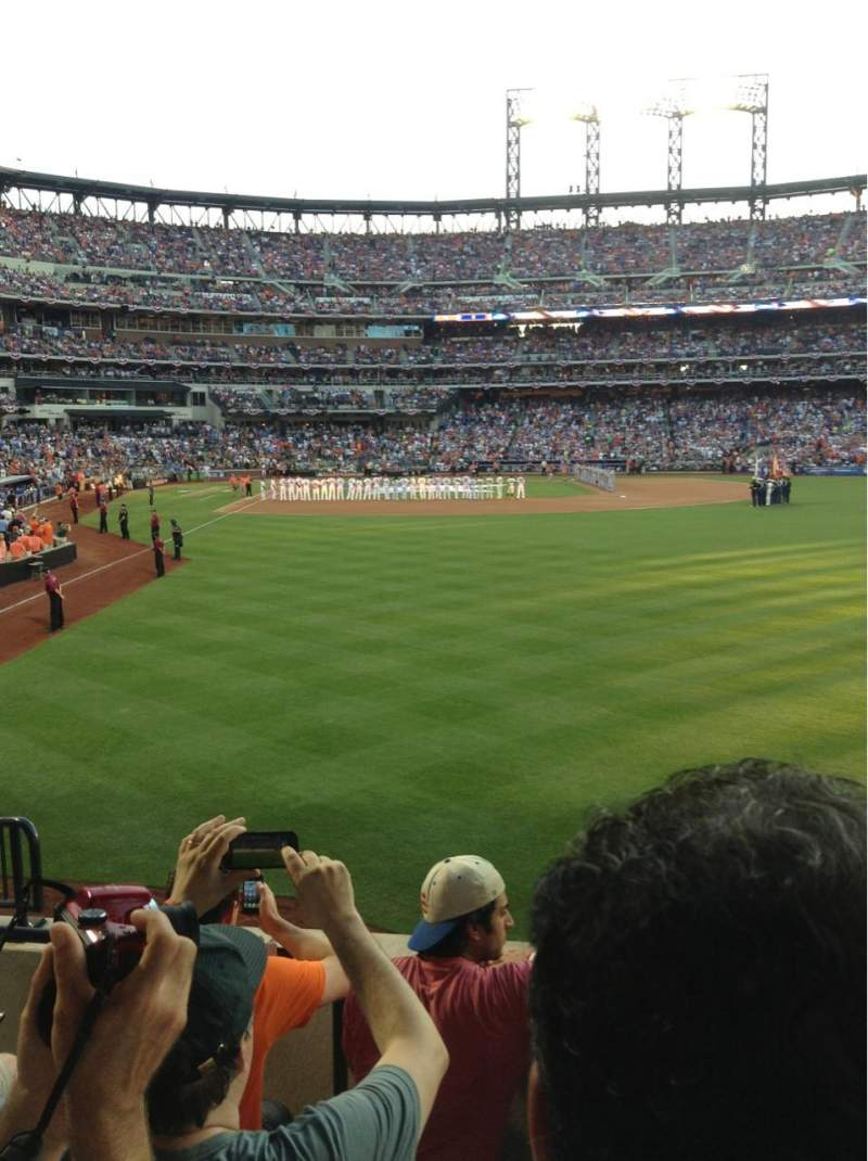 Seating view for Citi Field Section 102 Row 7
