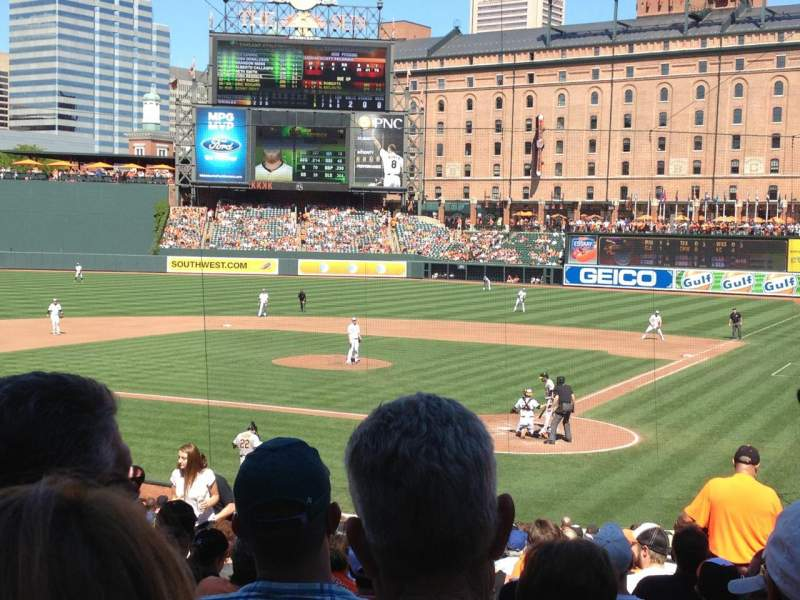 Seating view for Oriole Park at Camden Yards Section 42 Row 27 Seat 4
