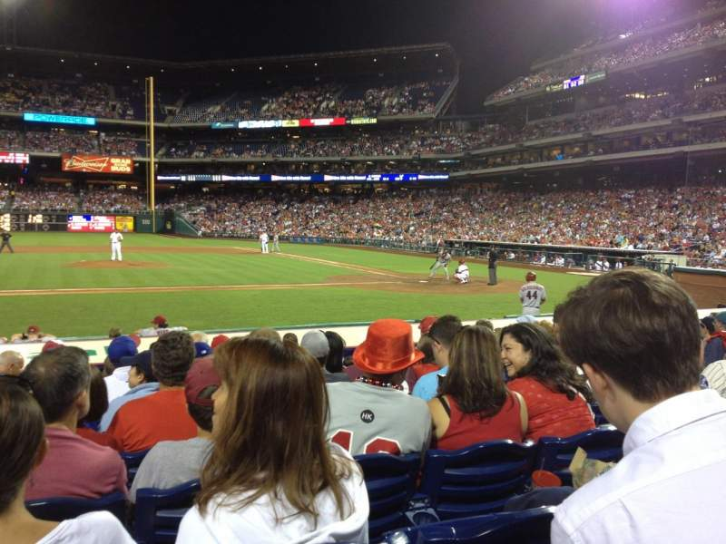 Seating view for Citizens Bank Park Section 130 Row 10 Seat 10