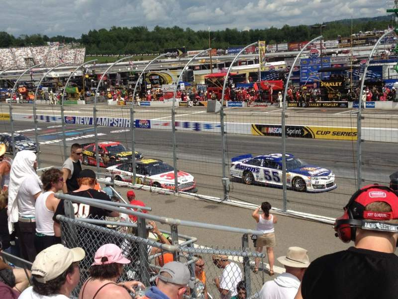 Seating view for New Hampshire Motor Speedway Section Main South Row 6 Seat 2