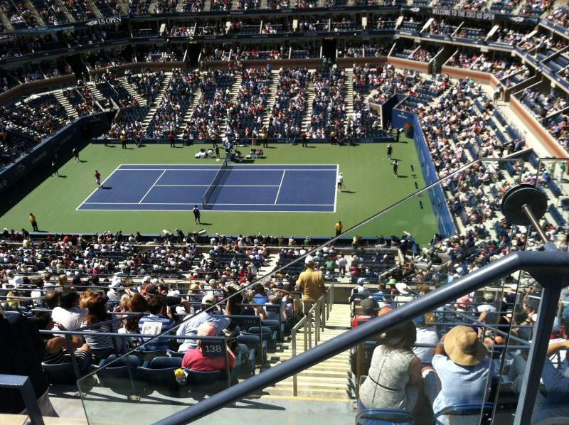 Seating view for Arthur Ashe Stadium Section 312 Row B Seat 2