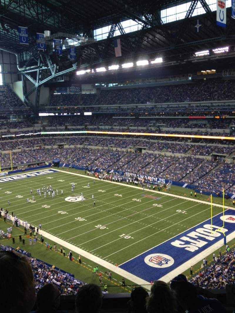 Seating view for Lucas Oil Stadium Section 506 Row 5N Seat 9