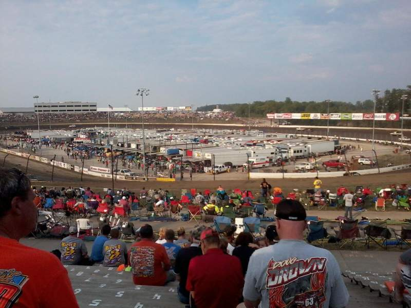 Seating view for Eldora Speedway Section SE Row 17 Seat 1