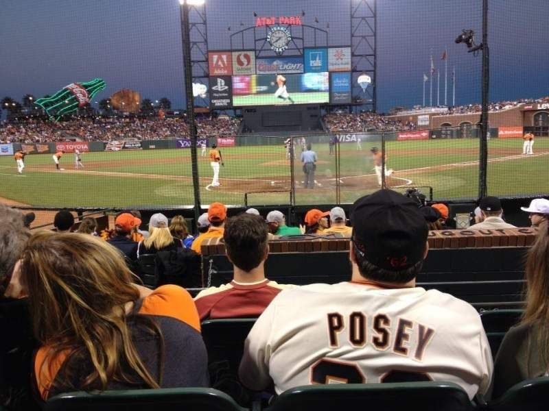Seating view for AT&T Park