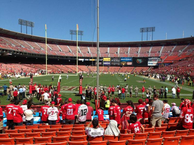 Seating view for Candlestick Park Section 9 Row K Seat 11