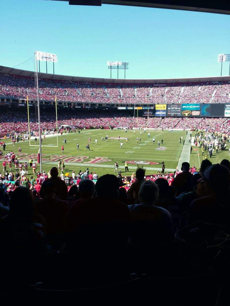 Seating view for Candlestick Park Section 11 Row 9 Seat 15