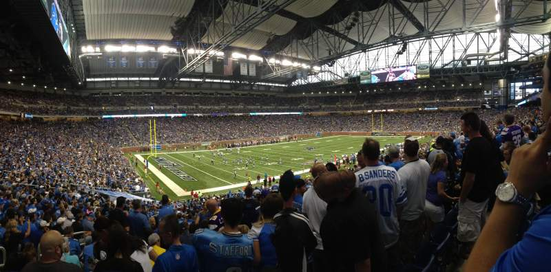 Seating view for Ford Field Section 101 Row 37 Seat 7