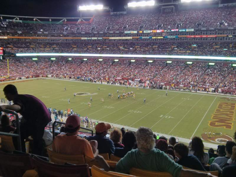 Seating view for FedEx Field Section 317 Row 9 Seat 19
