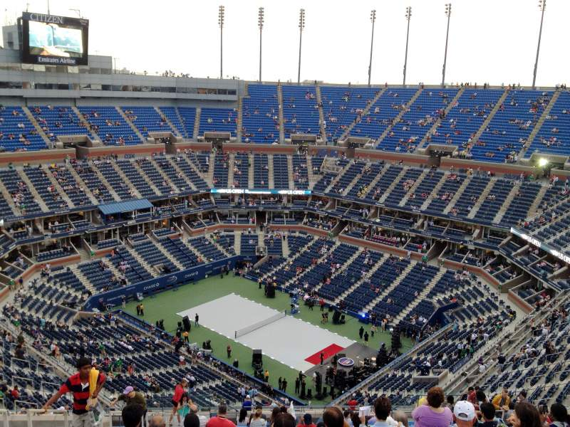 Seating view for Arthur Ashe Stadium Section 316 Row W
