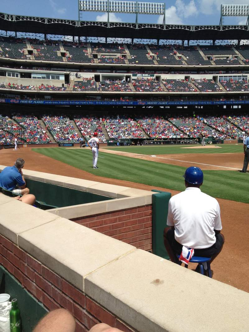 Seating view for Globe Life Park in Arlington Section 37 Row 1 Seat 6