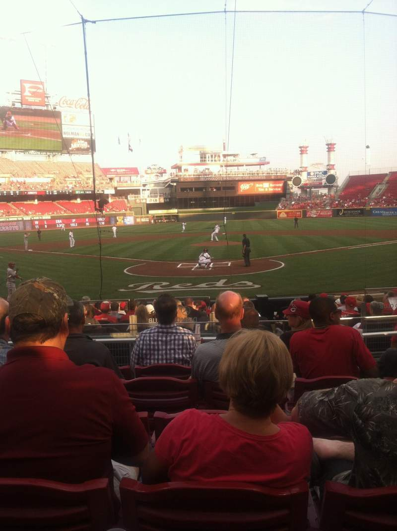 Seating view for Great American Ball Park Section 24 Row F Seat 7