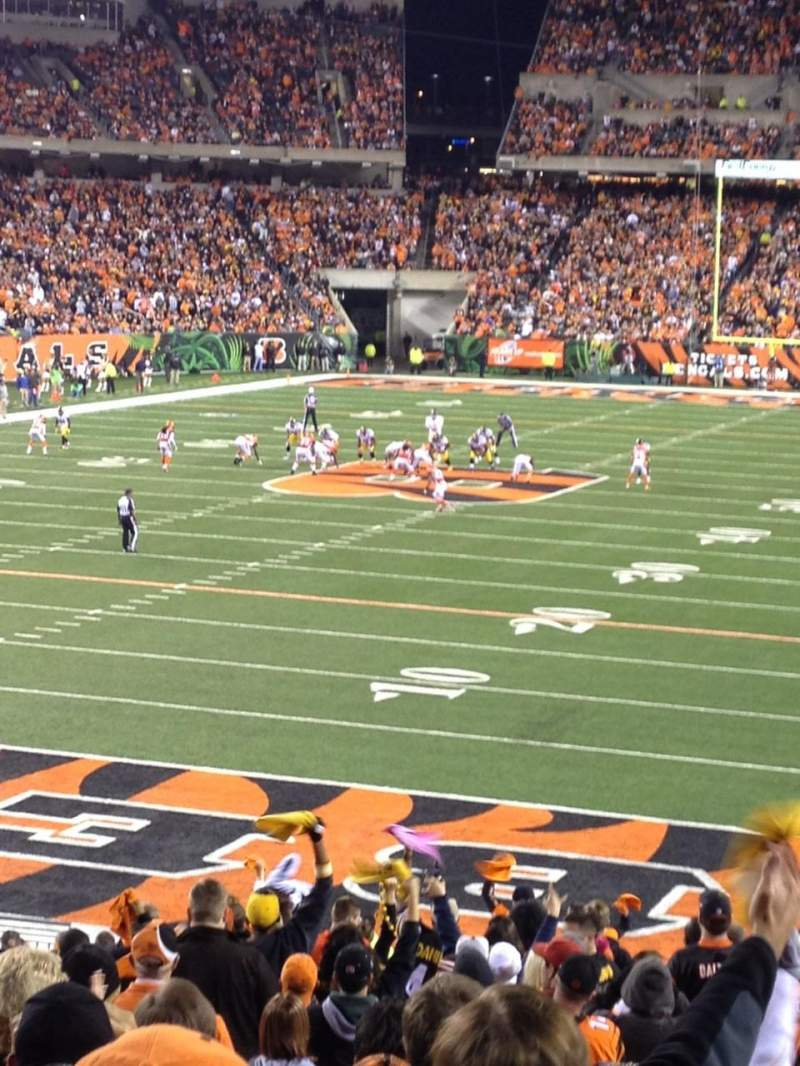 Seating view for Paul Brown Stadium Section 151 Row 27 Seat 1