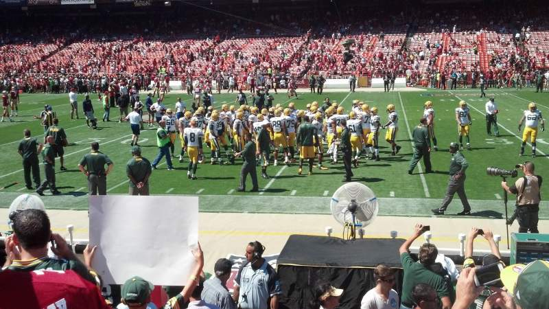 Seating view for Candlestick Park Section 133 Row 5 Seat 5