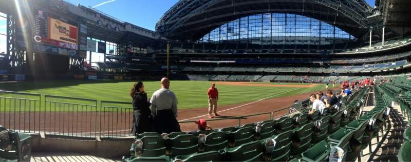 Seating view for Miller Park Section 128 Row 5 Seat 14
