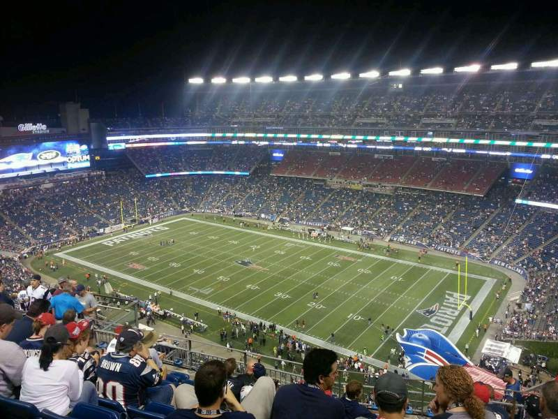Seating view for Gillette Stadium Section 304 Row 16 Seat 6