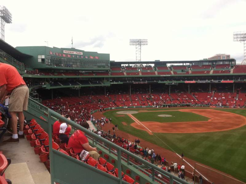 Seating view for Fenway Park Section Right Field Roof Deck Box 31 Row D Seat 4