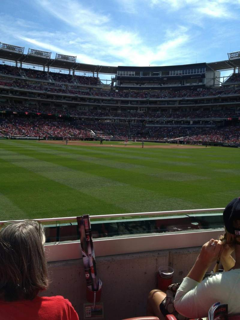Seating view for Nationals Park Section 100 Row C Seat 23