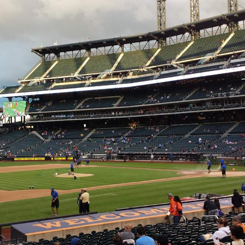 Seating view for Citi Field Section 124 Row 16 Seat 1