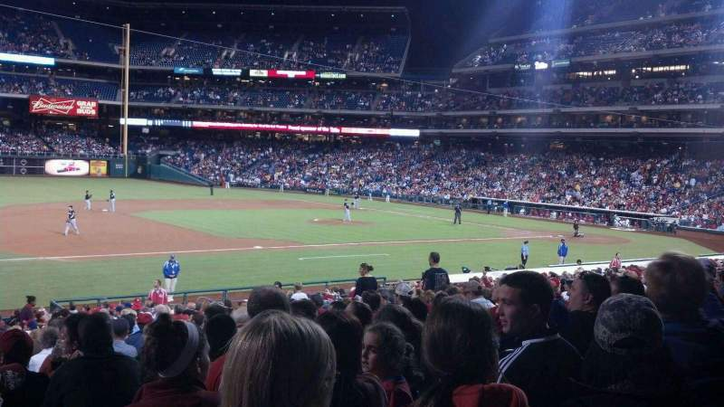 Seating view for Citizens Bank Park Section 133 Row 29 Seat 18