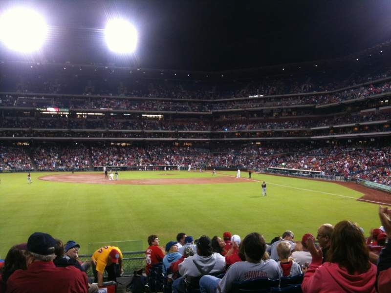 Seating view for Citizens Bank Park Section 144 Row 12 Seat 2