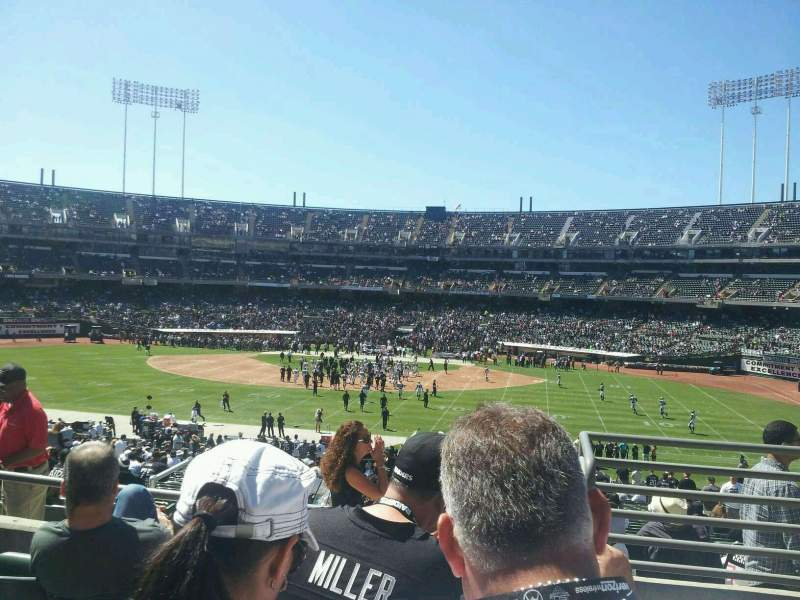 Seating view for Oakland Alameda Coliseum Section 139
