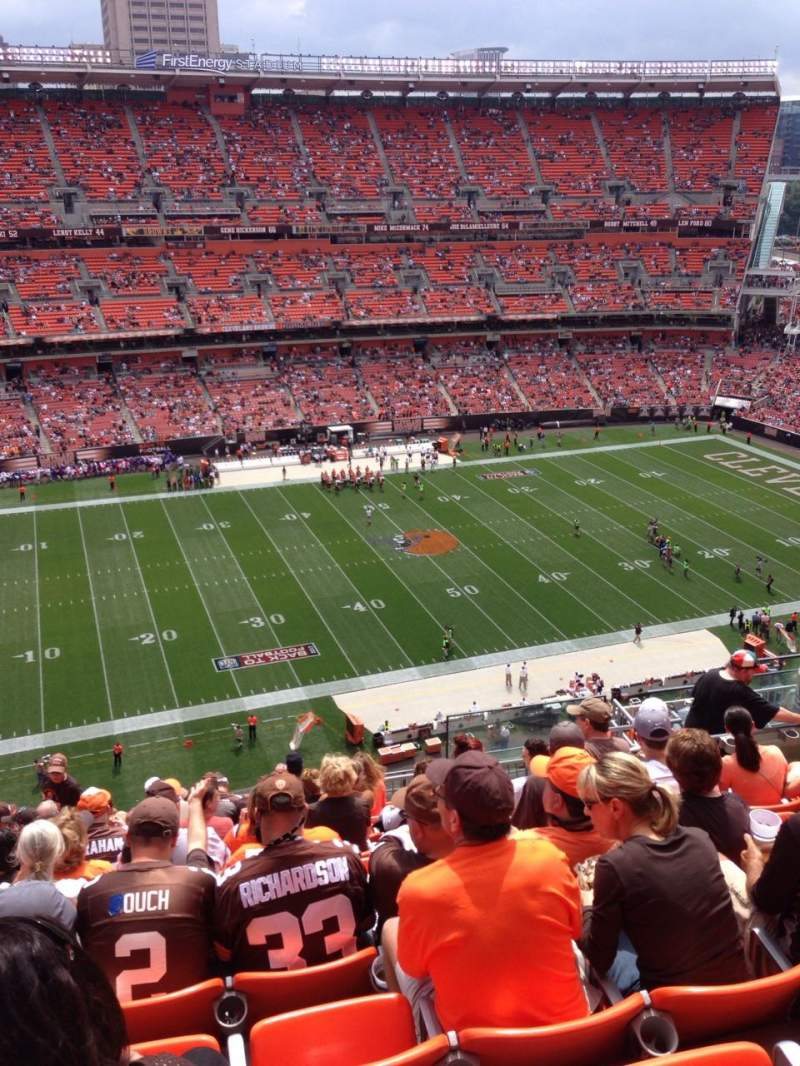 Seating view for FirstEnergy Stadium Section 531 Row 16 Seat 7