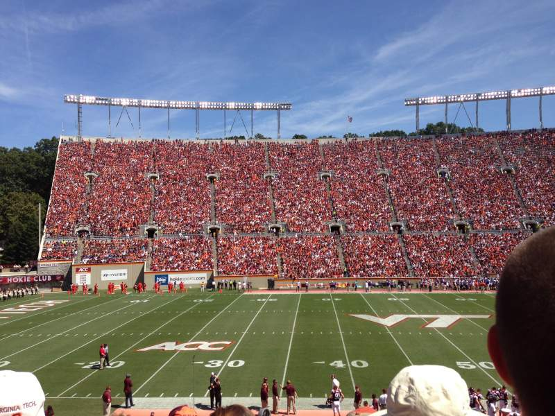Seating view for Lane Stadium Section 10 Row GG