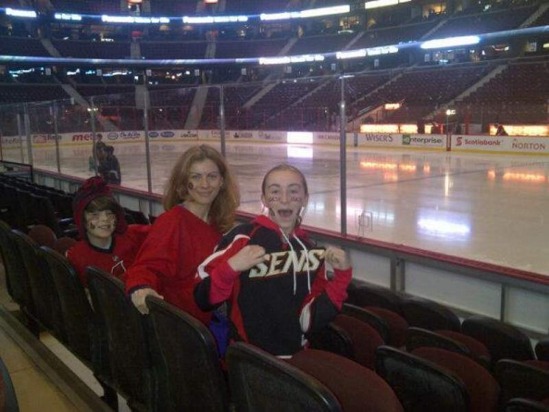 Seating view for Canadian Tire Centre Section 113 Row D Seat 7