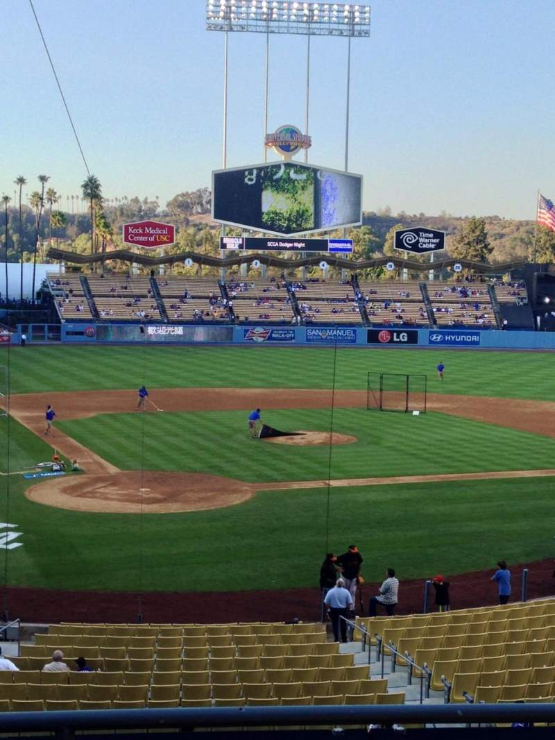 Seating view for Dodger Stadium Section 114LG Row D Seat 1