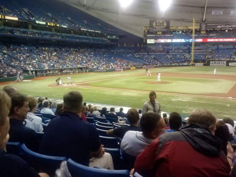 Seating view for Tropicana Field Section 118 Row AA Seat 8