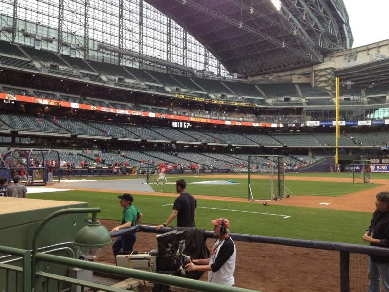 Seating view for Miller Park Section 112 Row 5 Seat 10