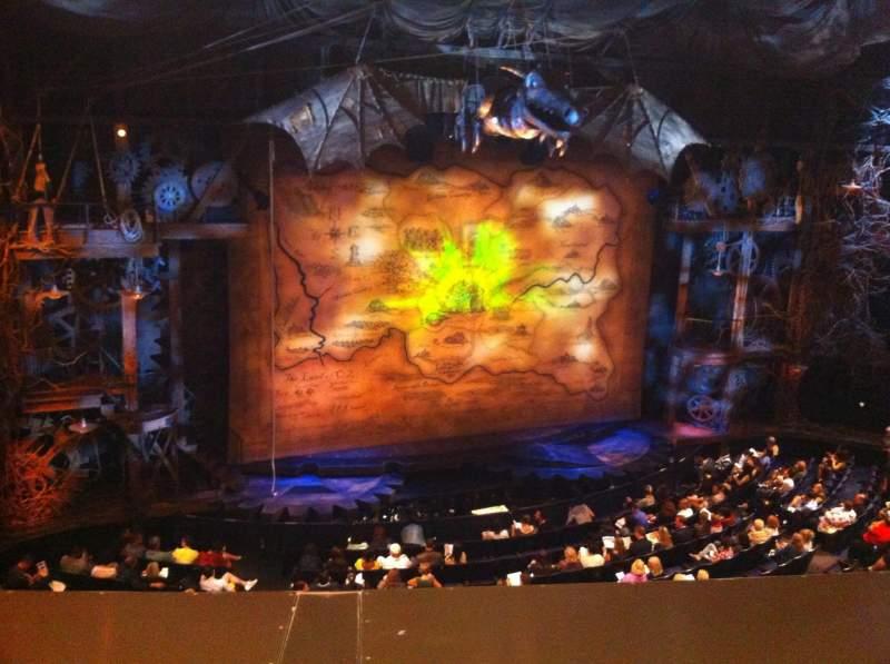 Gershwin Theatre, section: Front Mezzanine L, row: A, seat: 9