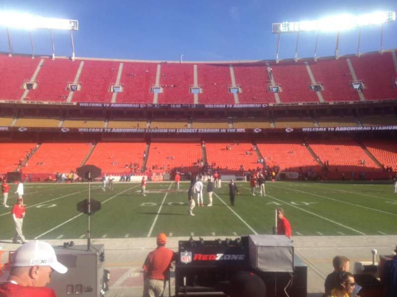 Seating view for Arrowhead Stadium Section 119 Row 2 Seat 5