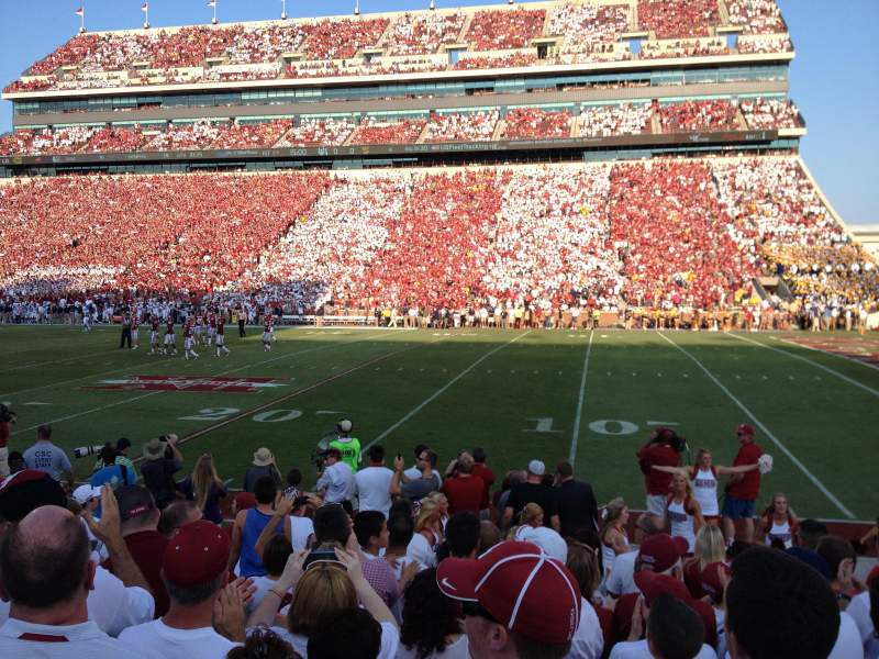 Seating view for Gaylord Memorial Stadium Section 3 Row 10A Seat 4