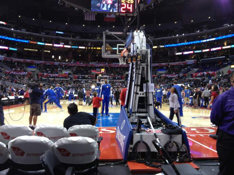 Seating view for Staples Center Section 107 Row 2 Seat 1