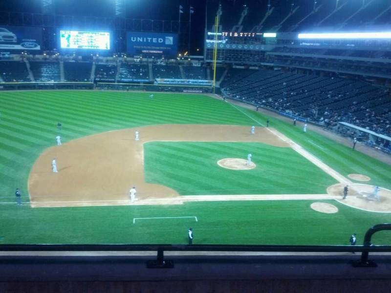 Seating view for Guaranteed Rate Field Section 340 Row 3 Seat 3