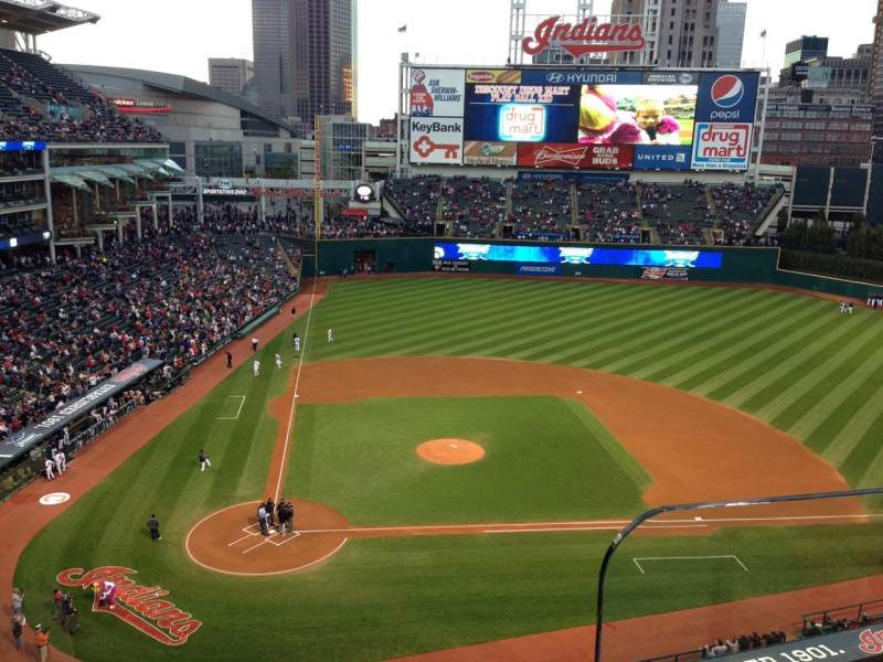 Seating view for Progressive Field Section 450 Row B Seat 2