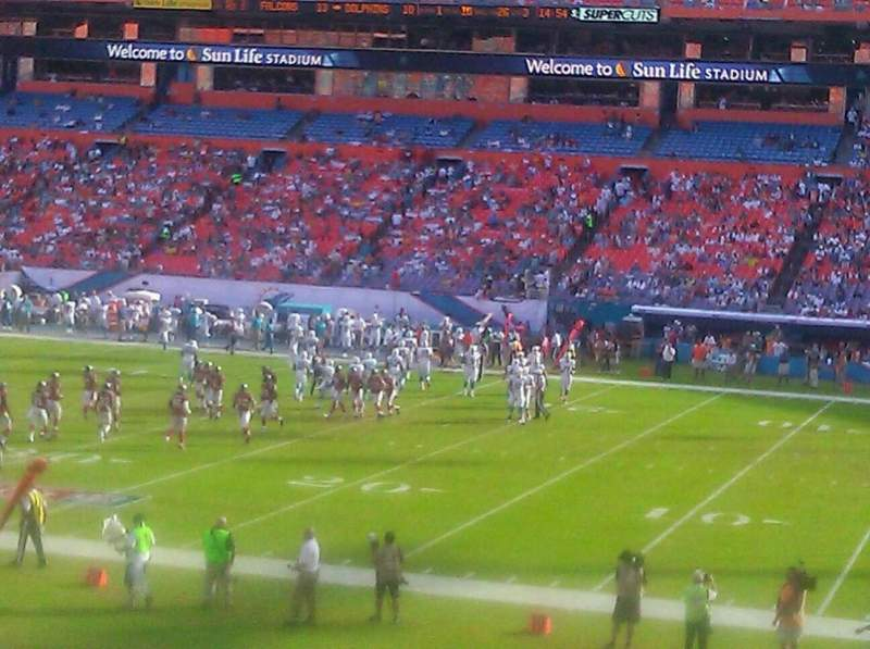 Seating view for Hard Rock Stadium Section 122 Row 24 Seat 1