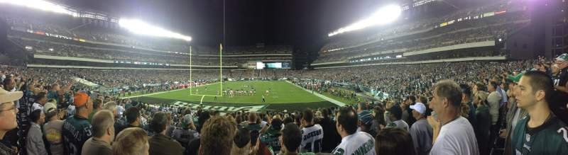 Seating view for Lincoln Financial Field Section 130 Row 20