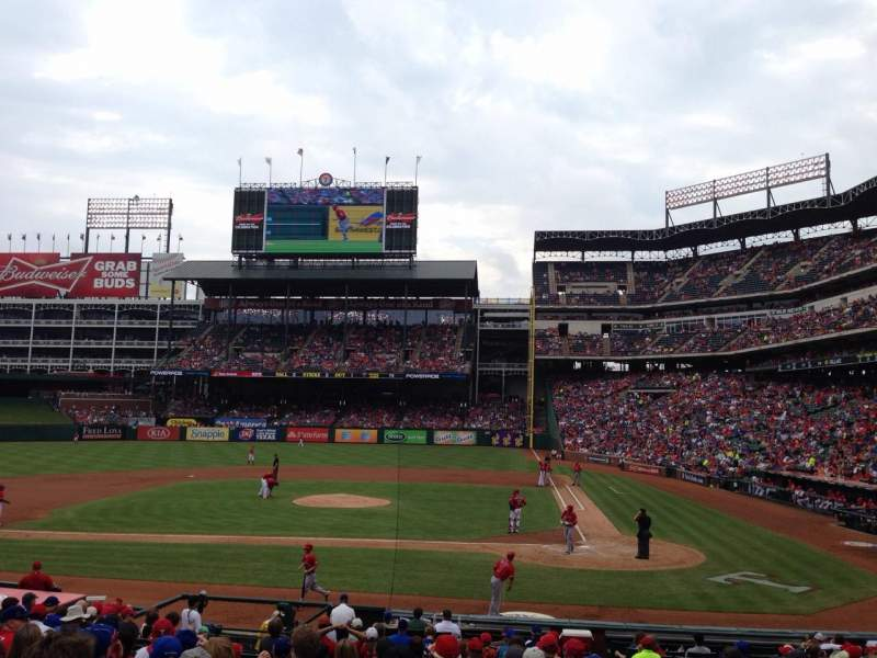 Seating view for Globe Life Park in Arlington Section 21 Row 19 Seat 11