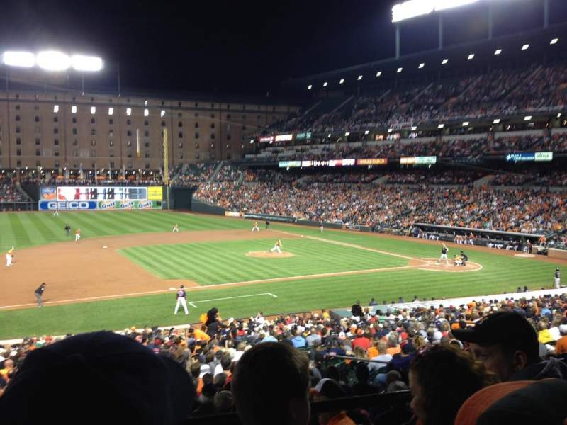 Seating view for Oriole Park at Camden Yards Section 55 Row 3 Seat 4