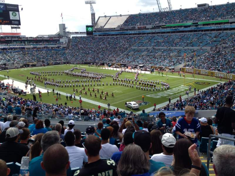 Seating view for EverBank Field Section 229 Row R Seat 3