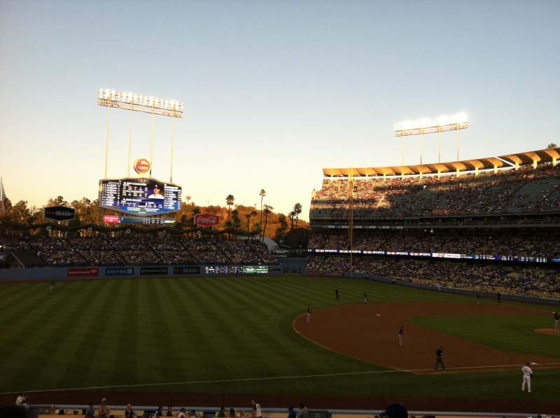 Seating view for Dodger Stadium Section 145LG Row F Seat 1