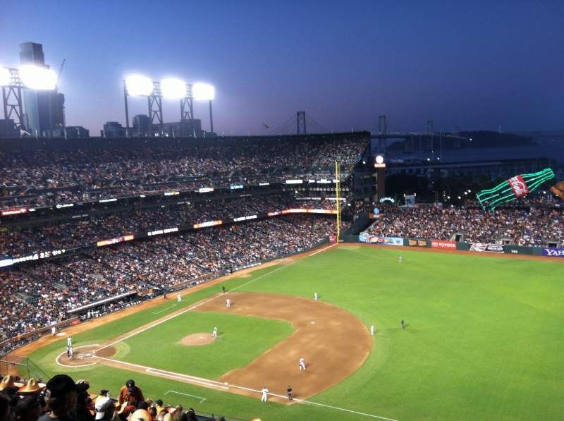 Seating view for Oracle Park Section VR302 Row 12 Seat 8