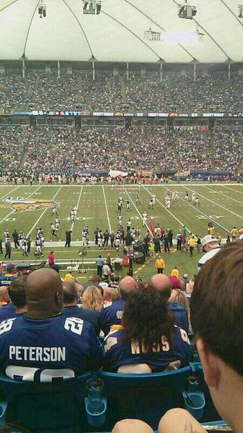 Seating view for Mall of America Field Section 108 Row 28 Seat 21-24