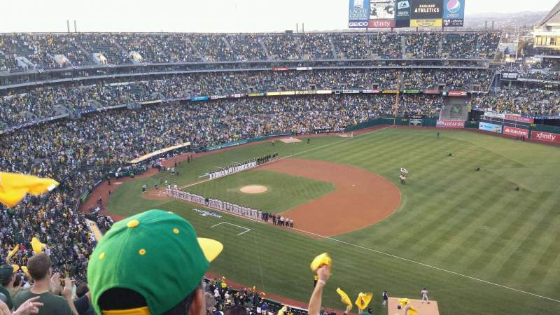 Seating view for Oakland Alameda Coliseum Section 308 Row 15 Seat 2