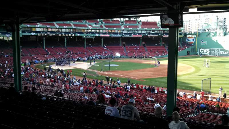 Seating view for Fenway Park Section Grandstand 11 Row 15 Seat 1