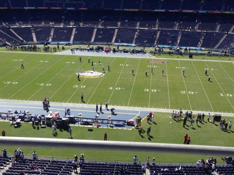 Seating view for Qualcomm Stadium Section Lv7 Row 2 Seat 14