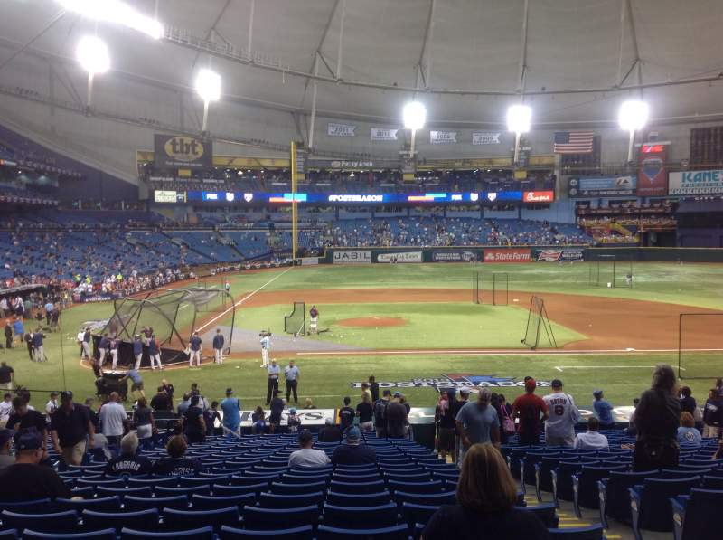 Seating view for Tropicana Field Section 112 Row HH Seat 8