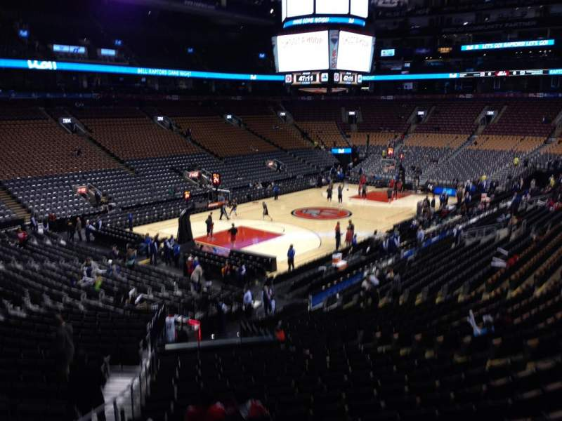 Seating view for Air Canada Centre Section 122 Row 25 Seat 15